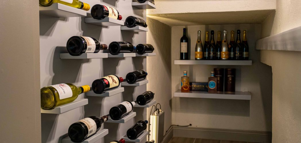 Wine Rack Under the Stairs