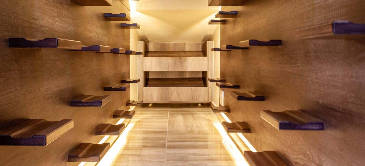 Meranti Wine Shelves